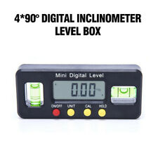 Bevel Digital Mini Gauge 0-360 LCD Protractor Base Inclinometer Magnet Angle Box