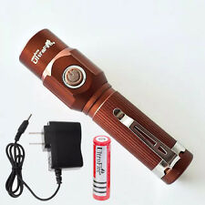 Ultrafire 800 Lumens CREE Q5 LED 3-Mode Rechargeable Flashlight Torch + Battery