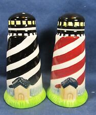 Lighthouses salt and pepper ceramic shaker set decorative table ware