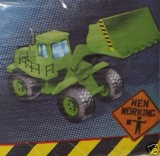 "Construction Napkins, Dump Truck Birthday Party Supplies, 13"" 16pc ~ Tableware"
