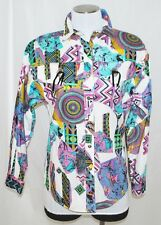 VTG Roughrider Cowboys & Indians Western Rodeo Cowgirl Rockabilly Shirt Blouse S