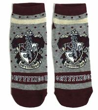 GRYFFINDOR LADIES HARRY POTTER SCHOOL HOUSE SHOE LINERS SOCKS UK 4-8 USA 6-10