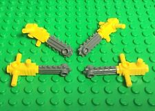 Lego New Chainsaw Mini Figures Utensil Accessory Tools / Parts X4 Lot