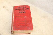 guide rouge Michelin France 1934  (voir photos)