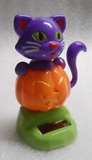 New Sealed Solar Powered Dancing Cat on Pumpkin Halloween Decoration/Toy