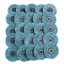 """25pc- 3"""" Fine Blue Roloc Quick Change Surface Conditioning Prep Sanding Discs"""