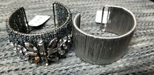 Cookie Lee Twilight & Wires Cuffs Bracelets NWT Beads Black and silver One Size