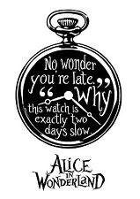 Alice in Wonderland Watch - Typography quote Decorative Vinyl Wall Sticker