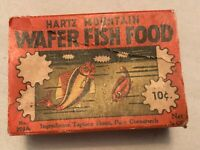 Hartz Mountain Vintage Wafer Fish Food Box, Great Graphics, 10 cents