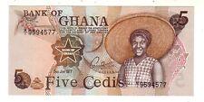 Ghana 5 cedis  1977  FDS UNC  Pick 15 b     rif 2722