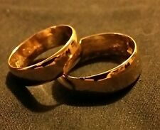 (WHY WEAR 10K,14K) USA PLACER 22K SOLID GOLD BULLION WEDDING SET APM JEWELRY #5M