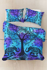 Indian cotton mandala duvet quilt cover heart tree bedding comforter cover set