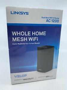 LINKSYS VELOP AC1200 Intelligent MESH 1-PACK WIFI System VLP0101 Black BRAND NEW