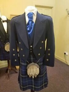 Ex Hire 100% Wool Prince Charlie Kilt Jacket & Waistcoat, EXCELLENT CONDITION
