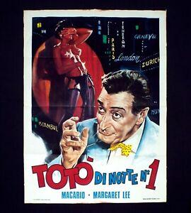 TOTò DI NOTTE N° 1 manifesto poster Macario Margaret Lee Striptease Musical D93