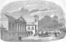 UKRAINE. Kerch, near the Market-Place, antique print, 1855