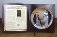 Vintage 1986 Norman Rockwell Plate Words Of Comfort Colonials With COA