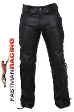 Neuer FMR® UNISEX Schnür- Biker Chopper Jeanshose mit 4 Protektoren A1 qualität