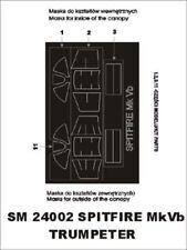 Montex Mini Mask 1:24 Spitfire Mk.VB for Trumpeter Spraying Stencil #SM24002