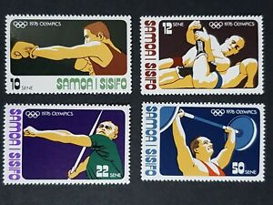 Samoa: 1976 Olympic Games, Montreal; complete unmounted mint set
