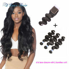 Women's Straight Hair Extensions with 3 Bundles