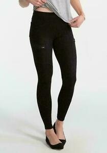 Spanx Cargo Back Pocket Zipper Jeans Jeggings Leggings Grey Wash XS UK 6