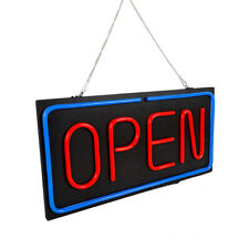 """Neon Open Sign 24""""x12"""" Led Led Light 30W Advertise Club Hang Decorate Business"""