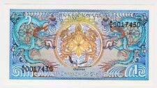 1985 Bhutan 1 Ngultrums Unc Paper Money Banknotes Currency