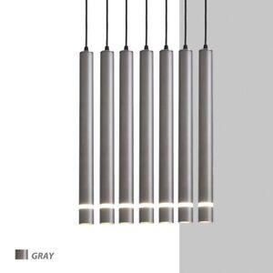 LED Pendant Lamp Long Tube Light Room Shop Bar Modern Decoration Cylinder Pipe