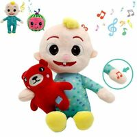 CoComelon Plush Musical Bedtime JJ Doll & BEAR Sings Soft Stuffed Toy Kids Gift