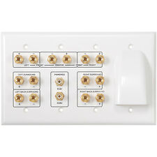 Home Theater 7.1 and Bulk Cable Wall Plate White