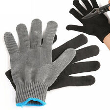 Fishing Fillet Glove Cut Resistant Grey Black Stainless Left/Right Hand