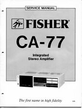 VINTAGE FISHER SERVICE INTEGRATED STEREO AMPLIFIER MODEL CA-77