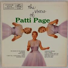PATTI PAGE: The Voices Of Patti USA Mercury DG '55 Mono Pop Vocals LP