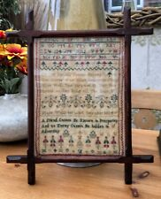 sampler antique 1834 By Maria Wells