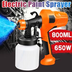 Electric Car/Home Spray Gun Air Paint Sprayer Handheld Painting Tool 650W 800ML