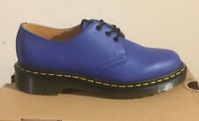 DR. Martens 1461 Wild Blue SOFTY T Scarpe Di Pelle Misura UK 7