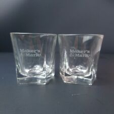 Set of 2 Makers Mark Rocks Glasses