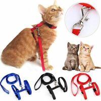 AdjustableCat Harness Belt Nylon Lead Leash Pet Kitten Collar Safety Strap Rope