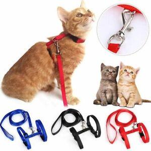 Adjustable Pet Cat Harness Belt Nylon Lead Leash Kitten Collar Safety Strap Rope