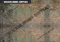 1/24 scale (3xA4) Garage wall - Peel and Apply decal sticker/diorama/model car 2