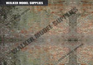 1/24 scale (3xA4) Garage wall - Peel and Apply decal sticker/diorama/model car 2