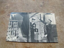 Early real photographic Postcard - Royal Navy Sailor & Officer