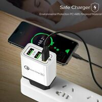 Multi Usb Charger 18w Quick Charge 3.0 2.1a Fast Eu Plug Wall Adapter Mobile Pho