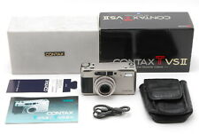 【N MINT in BOX】CONTAX TVS II Point & Shoot Film Camera Orijinal Case From Japan