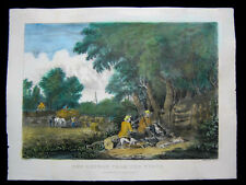 1872 Original Currier & Ives Print Return from the Woods Hunting Palmer M Folio