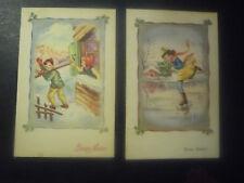 2 CARTOLINE BUON NATALE - BUON ANNO - 1951-54