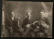 1890's Photo of Musicians With Instruments