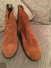 "womans ankle boots size 6. Brown Suede. Moda Make. Wedge 3.5"". 1/2"" Platform.new"