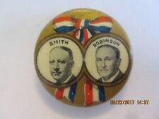 """1928 CELLO BUTTON PIN 7/8"""" AL SMITH & ROBINSON JUGATE SMI3"""